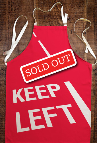 Keep Left apron (regular)