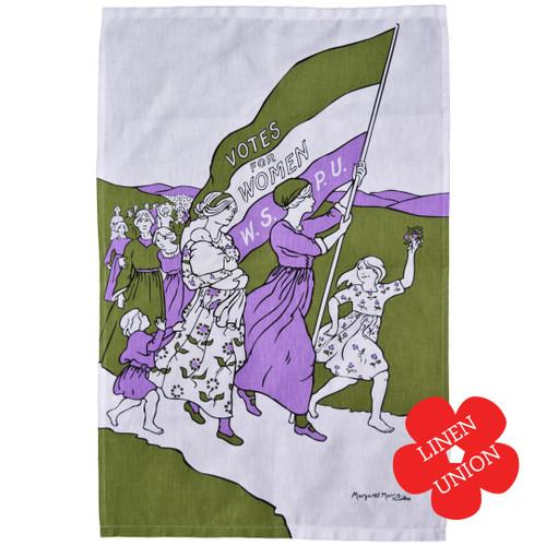 Women's March linen tea towel