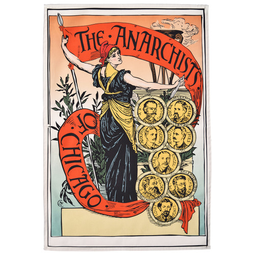 The Anarchists of Chicago tea towel