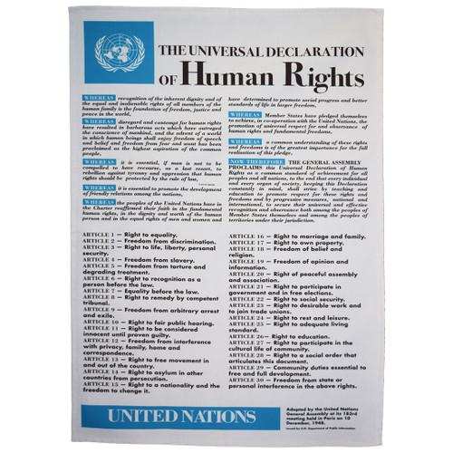 Universal Declaration of Human Rights tea towel
