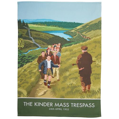 Kinder Trespass tea towel