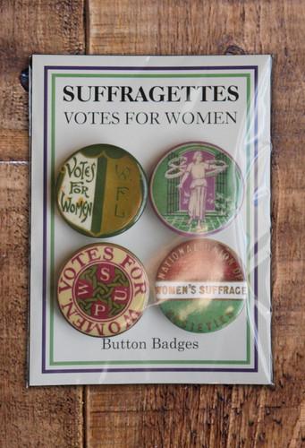 Women's Suffrage badge set