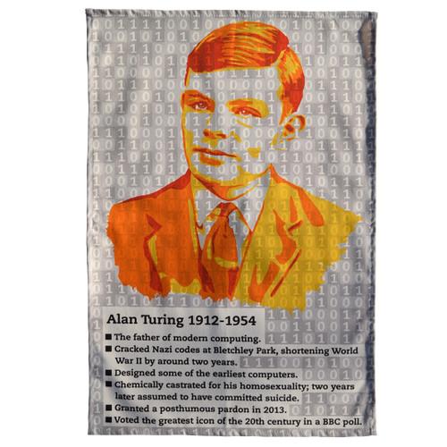 Alan Turing tea towel