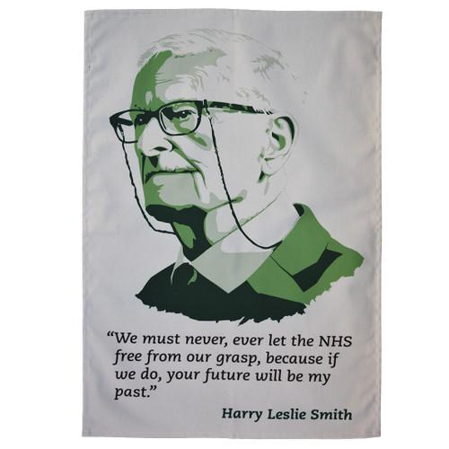 Harry Leslie Smith tea towel