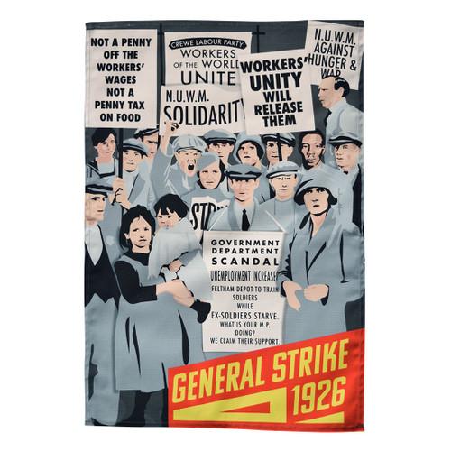 General Strike tea towel