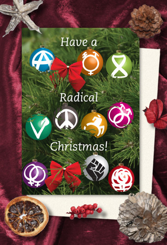 Radical Baubles Christmas cards pack of 8