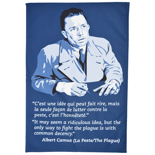 Albert Camus 'La Peste' tea towel