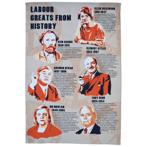 Labour Greats of History tea towel