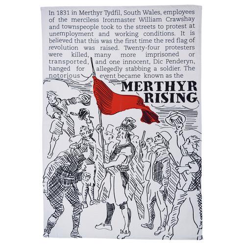 Merthyr Rising tea towel