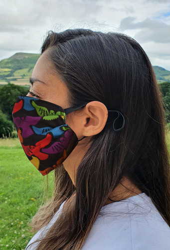 Doves of Hope face mask with elastic