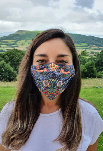 Strawberry Thief  face mask with elastic