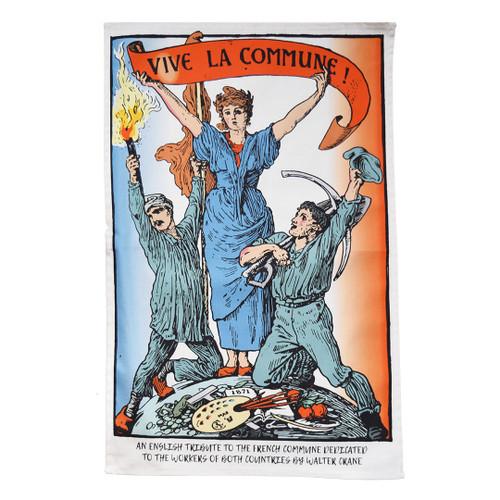 Paris Commune tea towel