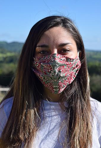 William Morris Indian Design face mask with elastic