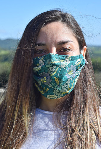 Bird and Anemone face mask with elastic