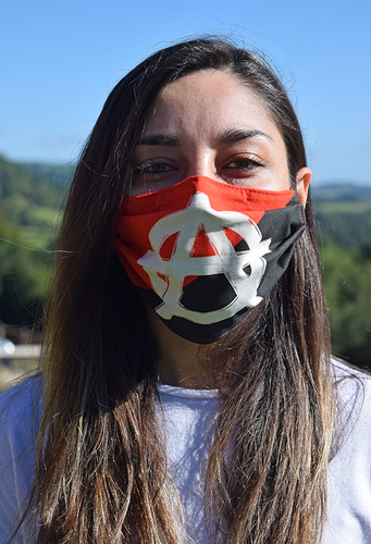 Anarchism face mask with elastic