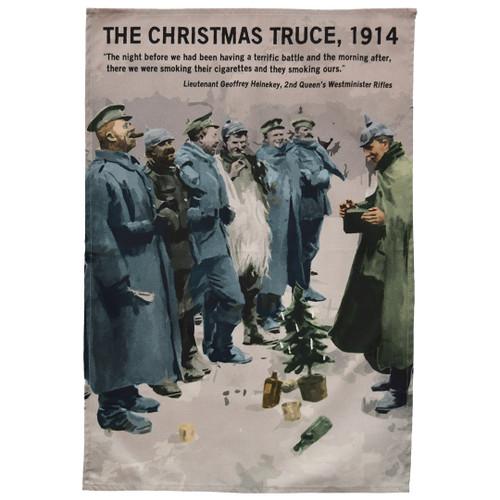 1914 Christmas Truce tea towel