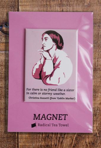Christina Rossetti fridge magnet