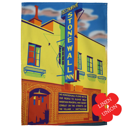 Stonewall Inn Gay Rights linen union tea towel