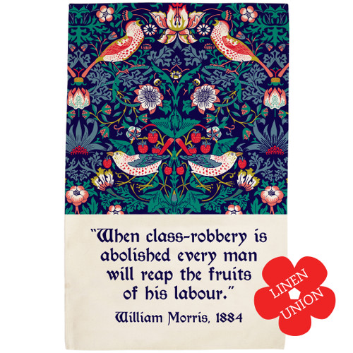 William Morris Strawberry Thief linen union tea towel