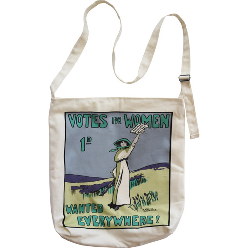 Votes for Women Wanted crossbody bag