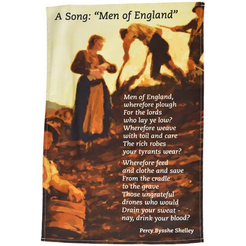 Shelley - Men of England tea towel