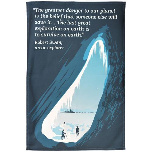 Robert Swan (Save the Planet) tea towel