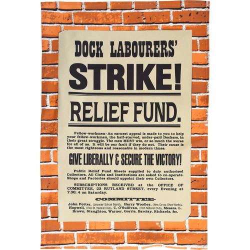 London Dockworkers Strike tea towel