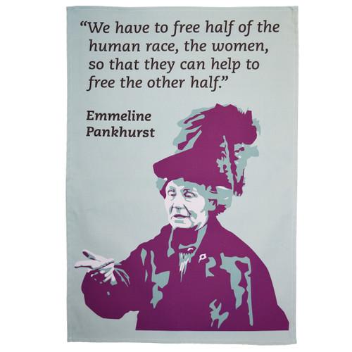 Emmeline Pankhurst tea towel