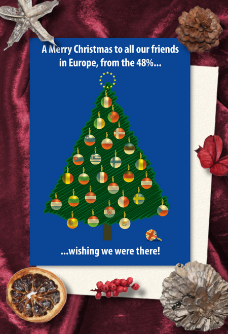 Pro-Europe Christmas cards pack of 8