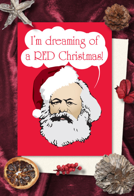 Karl Marx Christmas cards pack of 8