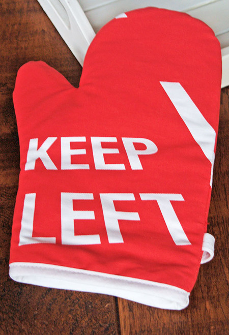 Keep Left oven mitt
