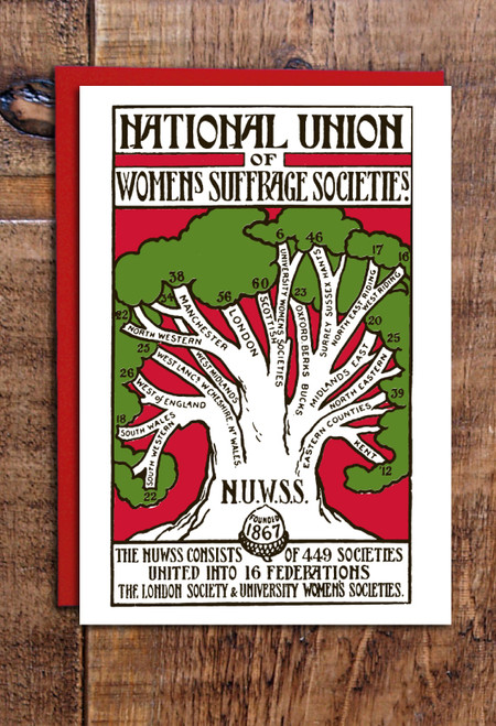 NUWSS women's suffrage greetings cards pack of 8