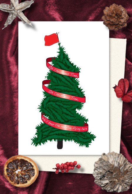 People's Flag Christmas cards pack of 8