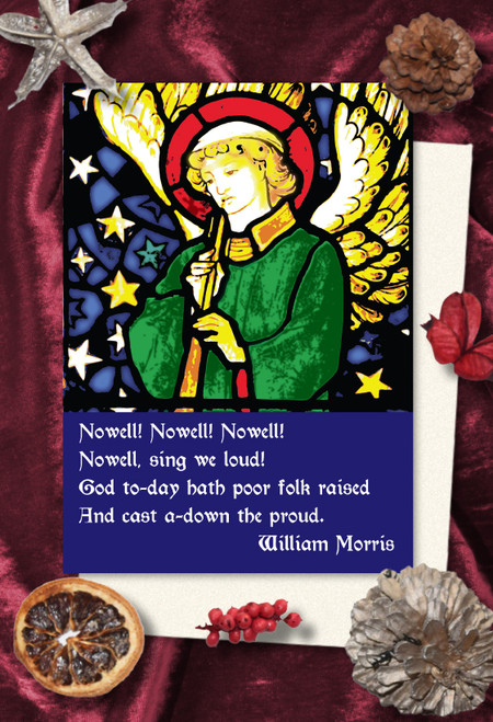 William Morris Nowell Christmas cards pack of 8