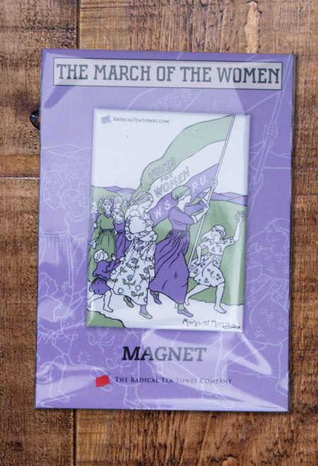 Women's March fridge magnet