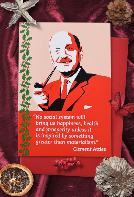 Radicals at Christmas: Clement Attlee Christmas cards pack of 8