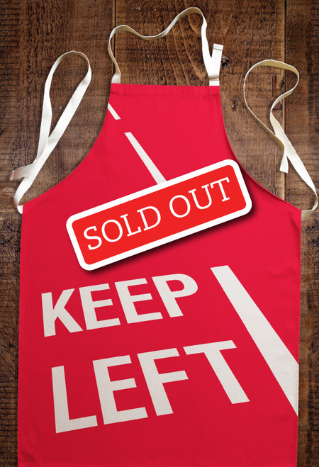Keep Left apron (regular)