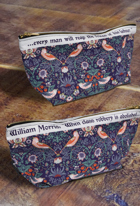 William Morris Strawberry Thief premium wash bag