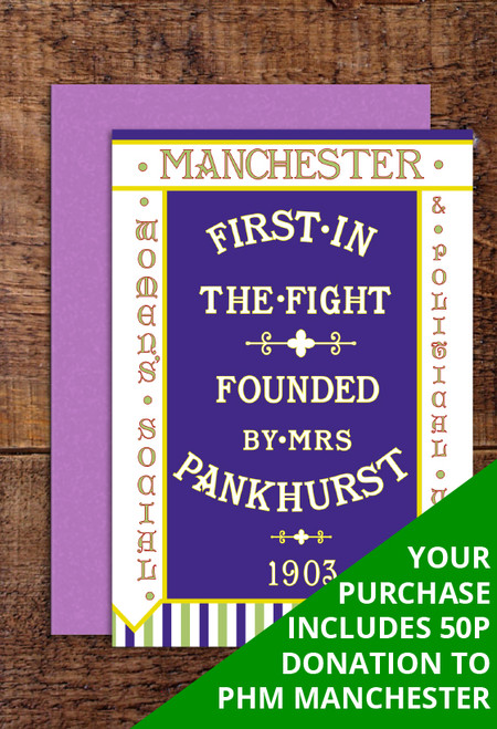 Manchester WSPU greetings cards