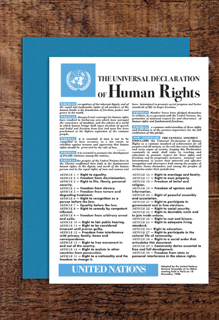 Universal Declaration of Human Rights greetings cards