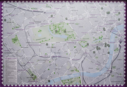 Suffragette London Map poster