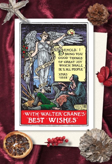 Walter Crane Good Tidings Christmas cards pack of 8