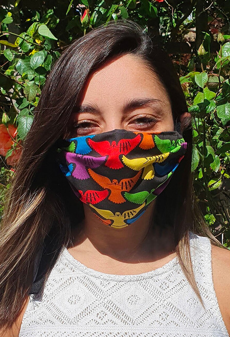 Doves of Hope face mask with elastic (3 ply)