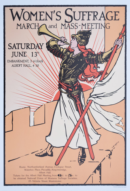 Women's Suffrage Bugler Girl poster