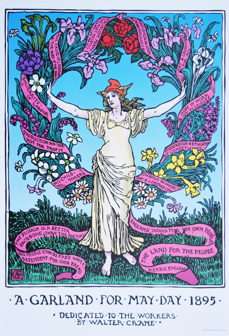 Walter Crane's  Garland for May Day poster