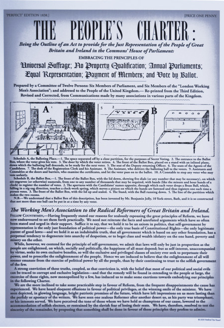 The People's Charter Newspaper poster