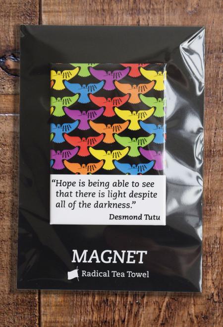 Desmond Tutu fridge magnet