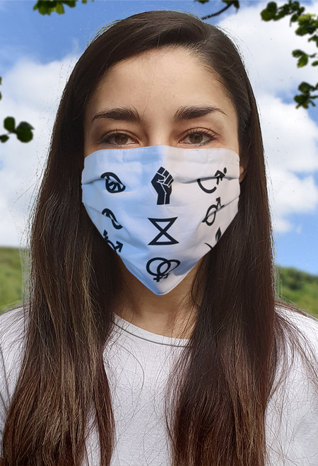 Campaign Symbols face mask with elastic