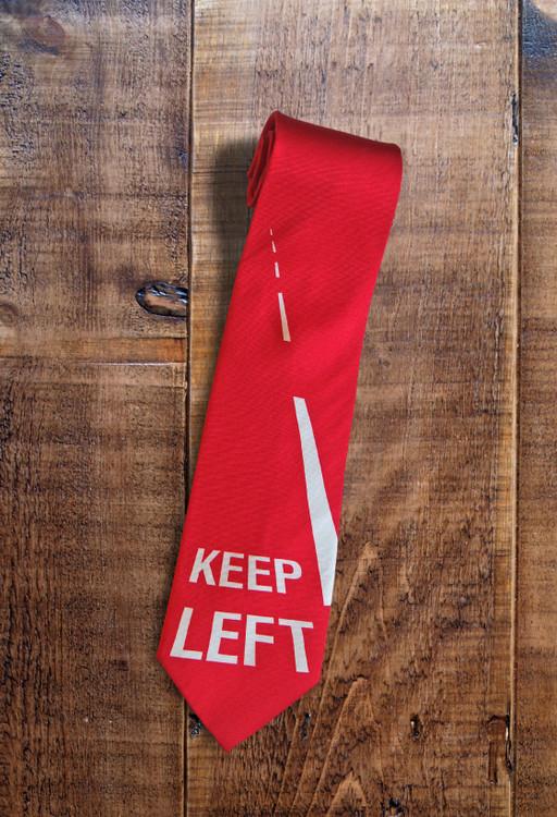 Keep Left handmade silk tie