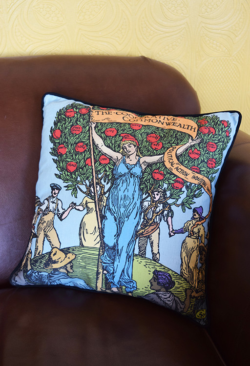 Cooperative Commonwealth cushion cover
